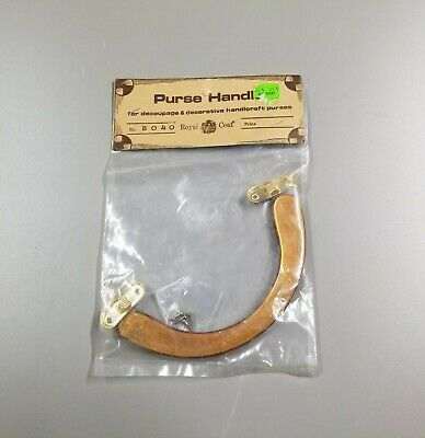 Brown Vintage Plastic Purse Handle - Original Hardware. Curve