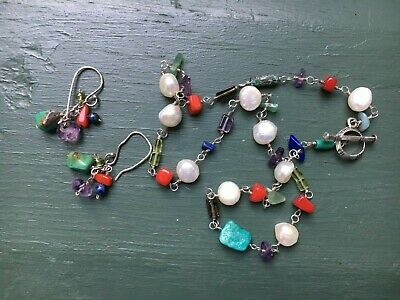 Silpada Silver Necklace/Earrings-Turquoise-Pearl-Coral-Lapis-Peridot-Amethyst