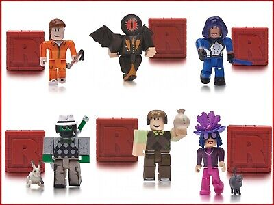 Lot of 6 ROBLOX Series 4 Mystery Action Figures Toys w Jailbreak Inmate~No Codes