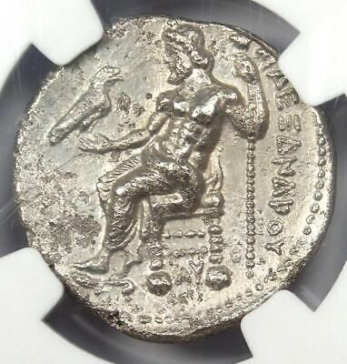 Alexander the Great III AR Tetradrachm Silver Coin 336-323 BC - Certified NGC VF