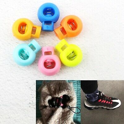 Backpacks Assorted Color Replacement Toggle Stopper Shoelace Cord Locks 100pcs