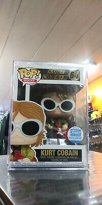 Funko Pop Rocks Kurt Cobain #64 in acrylic case Funko Shop Exclusive Nirvana