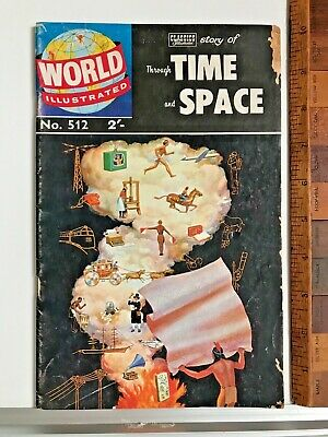 1960S Aussie Vintage Classics Illustrated World Around Us Comic Time & Space 512