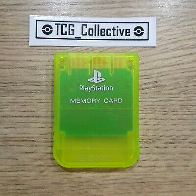PS1 (Sony Playstation) Official Memory Card - Clear Yellow Original, Retro, Rare