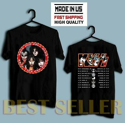 KISS band T-Shirt End of the Road Farewell Tour 2019 Complete Date Concert Tee