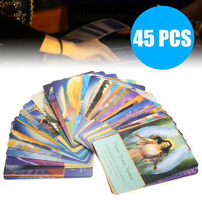 45pcs Magic Archangel Tarot Deck Card Oracle Earth Fate Play Cards 74x101mm