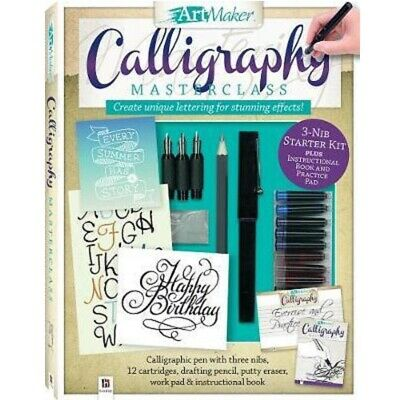 Calligraphy Writing Kit Pen Nibs Inks Master Course Class Letter Design Script