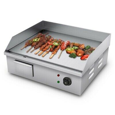 SOGA 2200W Electric Stainless Steel Flat Griddle Grill Commercial BBQ Hot Plate