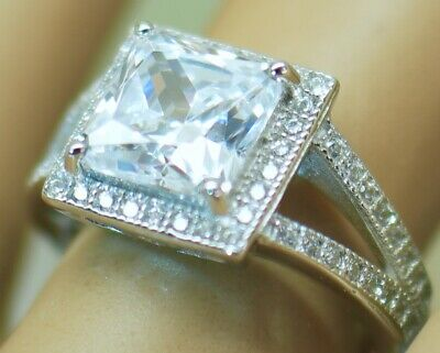 Vintage Jewellery Ring With White Sapphires Antique Deco Jewelry Size J or 5