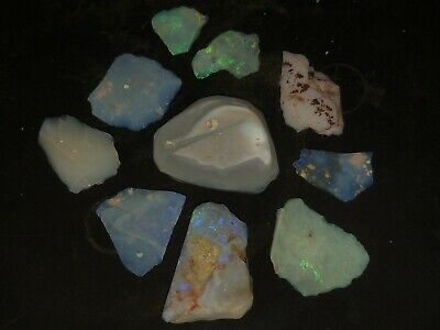 Solid opal rough rubs 25ct #158