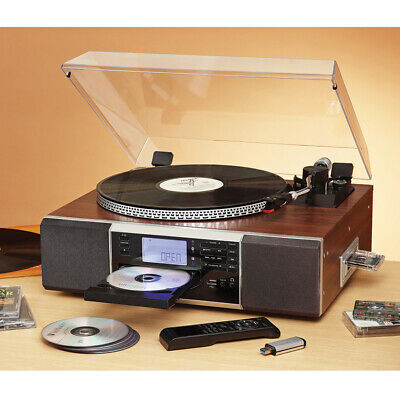 SECONDS Lenoxx Bluetooth Turntable Ultimate 7-in-1 Music System