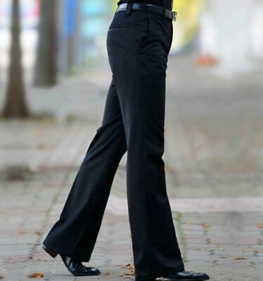 Mens Punk Straight faux Leather Pants Spike Studded Pant Party Trousers Black 33