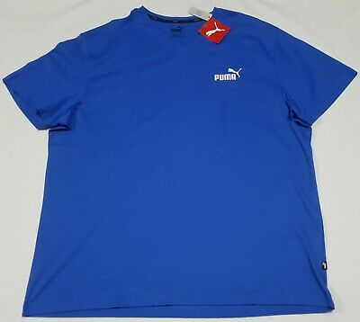Puma Mens Essential V Neck Tee strong blue size XXLarge 852421 Casual