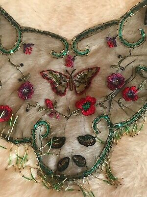 stunning vintage beaded and embroidered capelet or collar