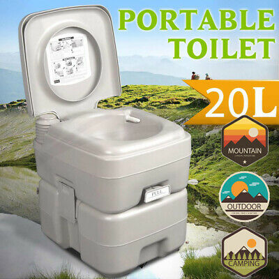 20L Portable Removable Toilet Flush Travel Camping Outdoor/Indoor Potty Commode
