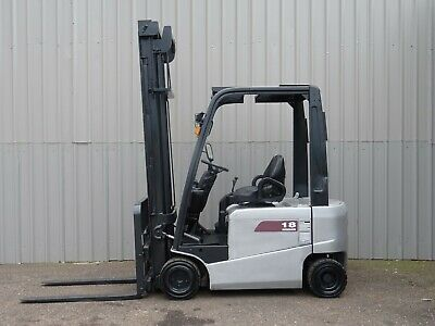NISSAN 1800Kgs .4500mm LIFT. USED ELECTRIC FORKLIFT TRUCK. (#2449)