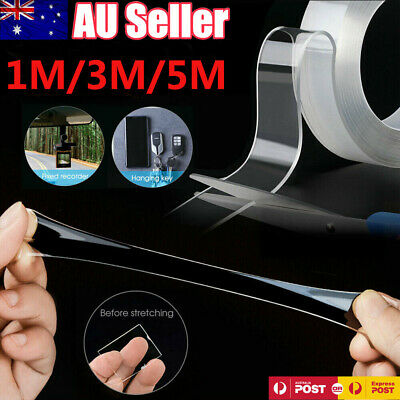 Double-Sided Nano Magic Tape Traceless Clear Adhesive Invisible Gel Anti-Slip AU