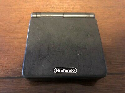Black Nintendo Gameboy Advance SP AGS 101 (backlight) Console Only! Corner issue