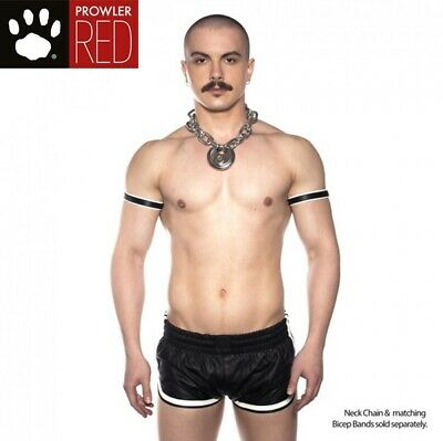 Prowler RED Leather Sports Shorts Black/White XXXLARGE Ultimate Strong Male Look