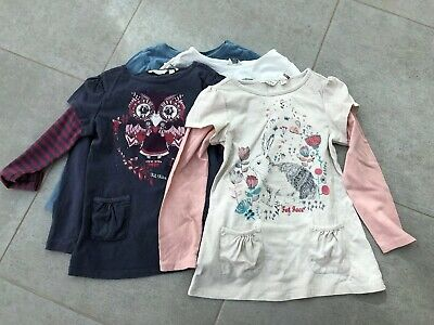 Girls Winter Bundle X5 Age 4-5 Long Sleeve T-shirts From Fat Face
