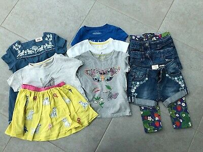 Girls Bundle Age 4-5 T-shirts, Skirt, Shorts, Jeans, Mini Boden And Fat Face