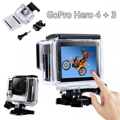 Protective case Charging case Side Open Housing case for GoPro Hero 4+3 camera