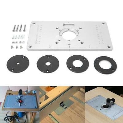 700C Aluminum Router Table Insert Plate & 4 Rings Screws For Woodworking Benches