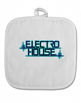 (White) - TooLoud Electro House Bolt White Fabric Pot Holder Hot Pad