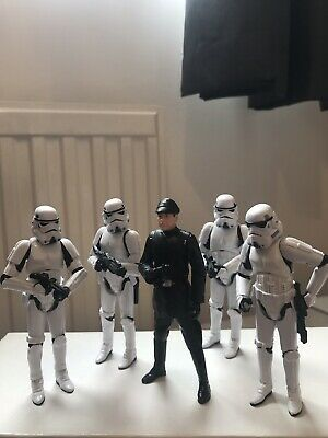 Qty 5 Star Wars Figures Including Imperial Officer