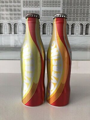 2 Different Colour  Uk/Spain Lovebeing  Test Coca Cola Alu Bottles