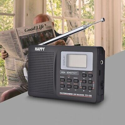Portable Radio AM FM World Band SW Digital Speaker Wind Up Receiver With Antenna