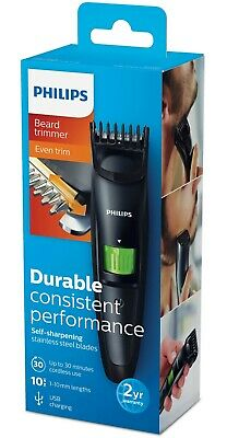 Philips QT3310/13 Series 3000 Beard & Stubble Trimmer, USB Charging, 1-10mm Trim
