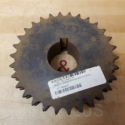 """Martin D50B30 30T Double Roller Sprocket, 2"""" Bore - USED"""