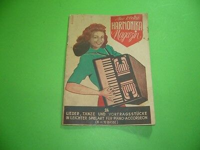 208R01 Das kleine HARMONIKA Magazin 24 Lieder, Tänze f. Piano Accordeon, um 1947