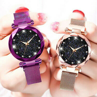 Luxury Starry Sky Women Ladies Watches Bracelet Magnetic Stainless Watch AU
