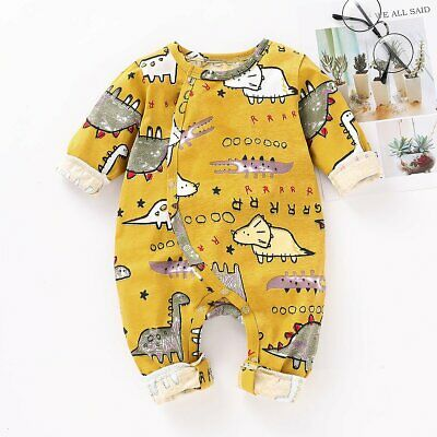 Infant Newborn Baby Boy Girls Long Jumpsuit Romper Bodysuit Clothes Outfit New