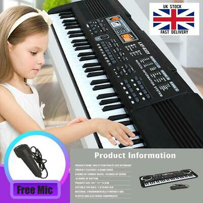 61 Keys Digital Music Electronic Keyboard Board Toy Gift Electric Piano Gift UK