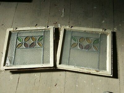 Stained Glass Antique Leaded Window With Opener ,