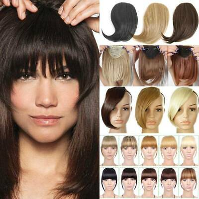 CHIC One Piece Clip in Hair Extensions Forehead Fringes Bang Hairpiece As Human