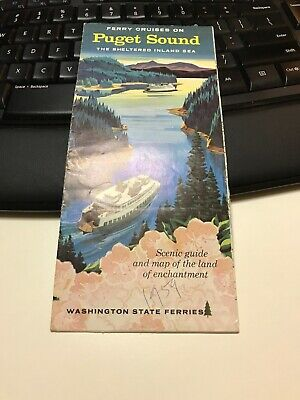 1959 Ferry Cruises on Puget Sound & Adjacent Inland Waters Brochure