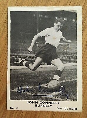 Trade Card Burnley Player by A&BC Gum 1961 Series Footballers (Plain back) No.51