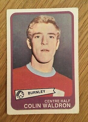Trade Card Burnley Player by A&BC Gum 1968 Footballers (Yellow Back 55-101)No.73