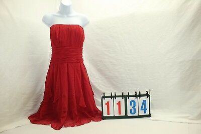 Davids Bridal Bridesmaid Prom Party Wedding Red size 16 Strapless