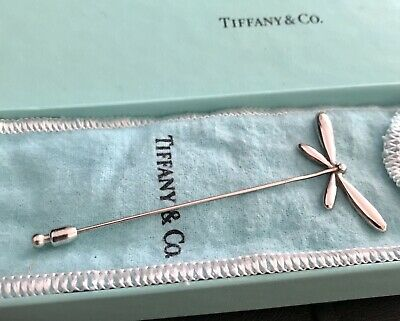 Tiffany & Co Sterling Retired Rare Dragonfly Stick Pin Stickpin W/Pouch & Box
