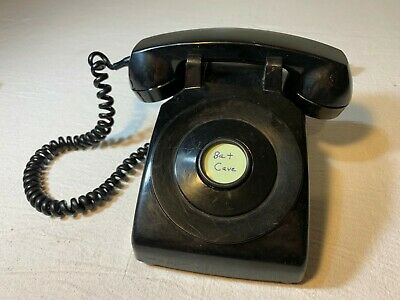 Vintage Western Electric Bell System C/D 500 Black Rotary Telephone - NO DIAL