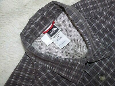 MENS THE NORTH FACE Short Sleeve Check Shirt Size M
