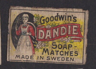 AE Old  Matchbox label Sweden LLLLL16 Goodwin's Dandie Woman