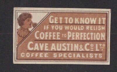 AE Old  Matchbox label Sweden LLLLL17 Coffee Woman