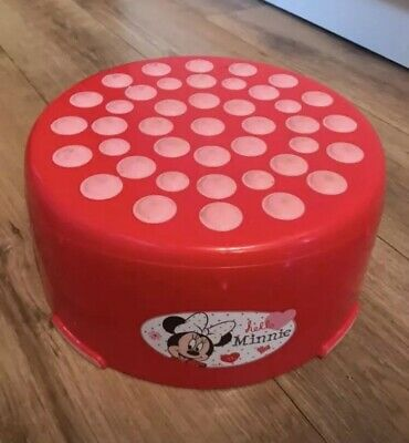 Disney Minnie Mouse Children's Red Footstool / Toilet Step