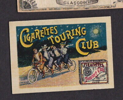 AE Old Matchbox label Sweden LLLLL30 Cigarettes Touring Club Cycle
